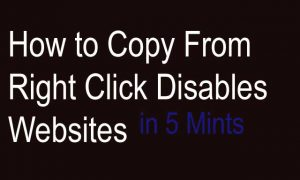 Copy From Right Click Disabled Website
